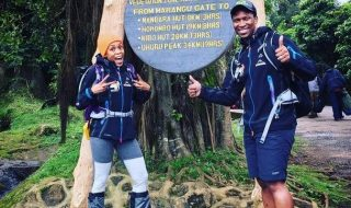 wife of late race car driver Gugu Zulu completes climb up Kilimanjaro