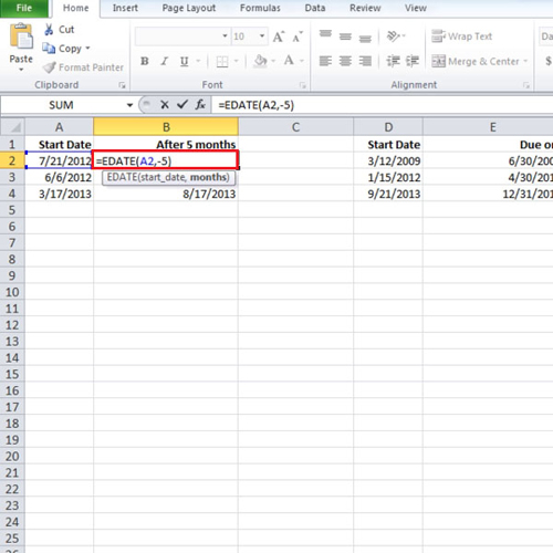 How to calculate ends of months and future or past dates