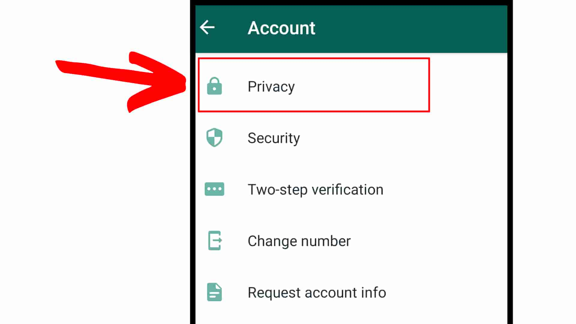 How to hide status in whatsapp Step 5