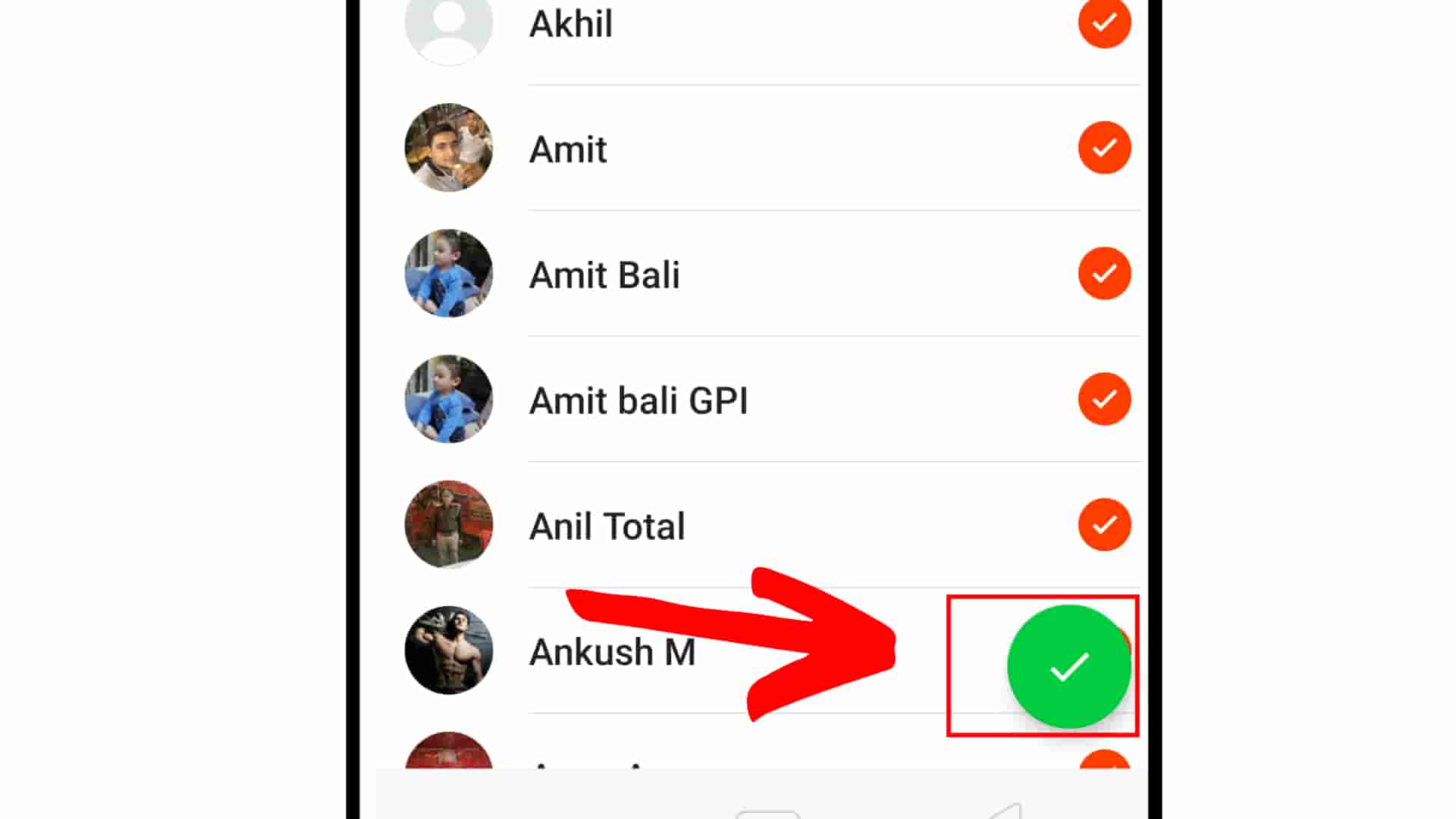 How to hide status in whatsapp Step 8