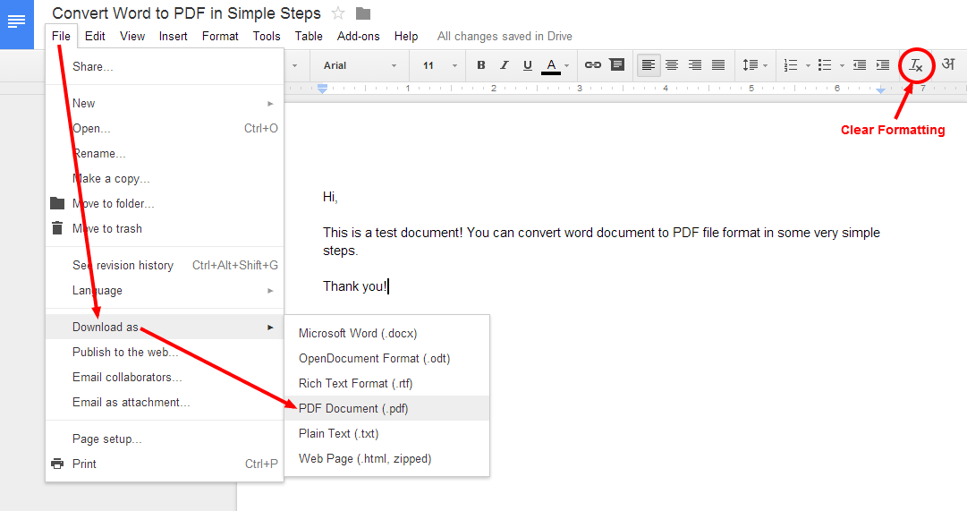 how to convert word document to pdf file format