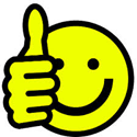 Happy Face and Thumbs Up