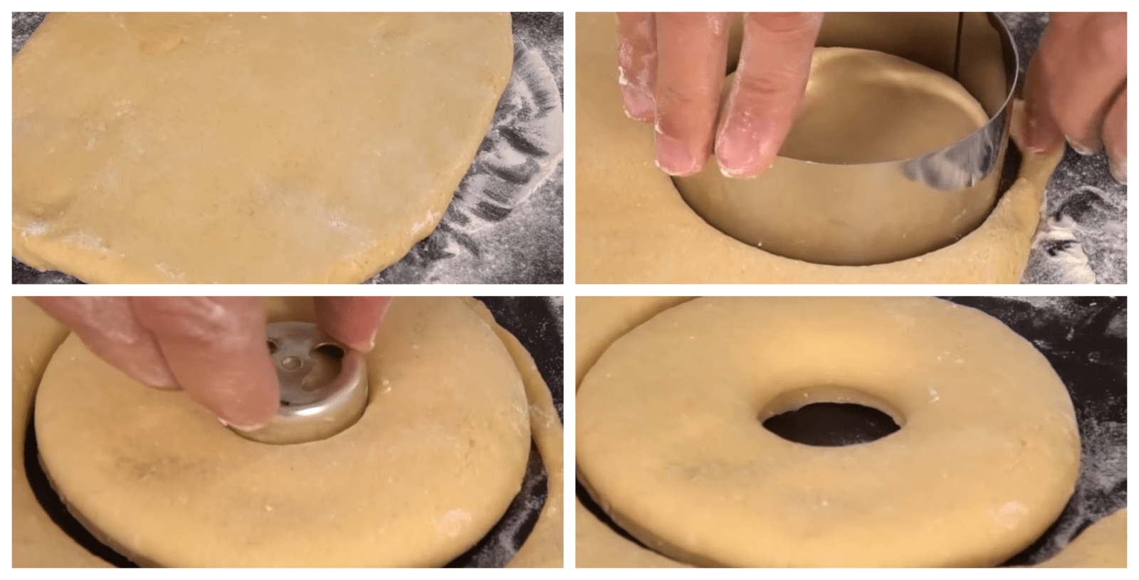 Forming the donuts shape