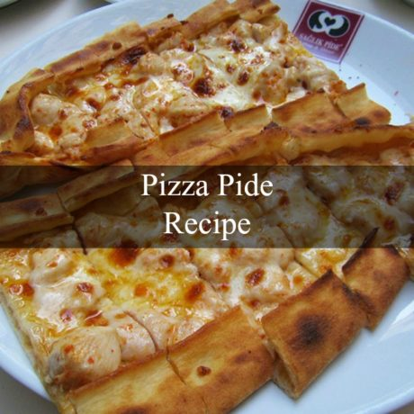 Pizza Pide Turkish Style with Minced Meat