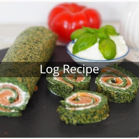 Log with Spinach and Salmon
