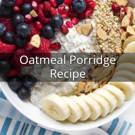 Oatmeal Porridge With Milk And Berries