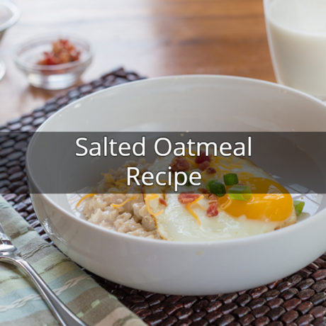 Salted Oatmeal With Bacon And Egg