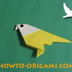 Folding Origami Box Diagram Electrical Panel Riser Paper Bird For Children « Embroidery &