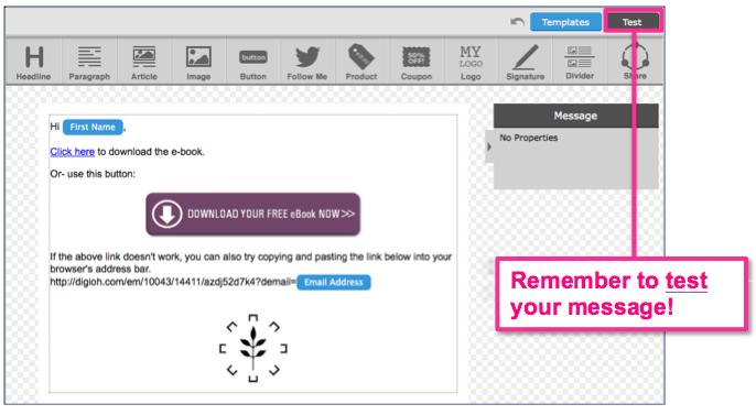 Customizing an AWeber follow up message