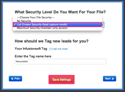 Select List Grower Security