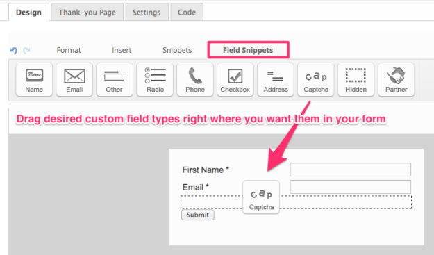 Customize your Infusionsoft signup form