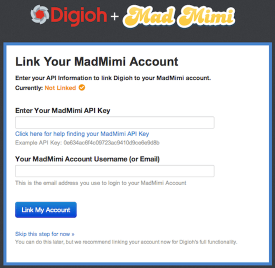 Connect MadMimi and Digioh