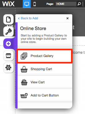 Add Wix Product Gallery