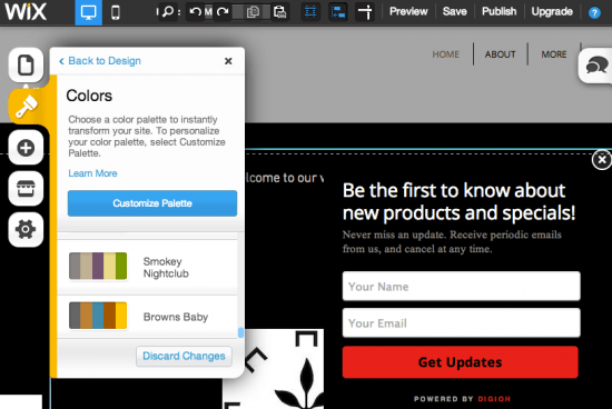 Lightbox automatically adjusts to Wix page style
