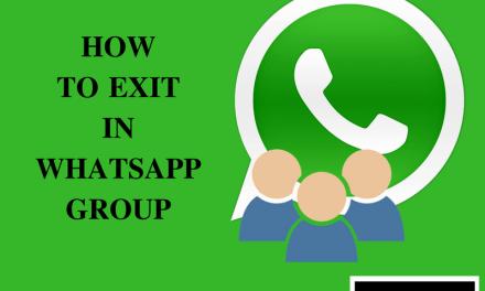 WhatsApp ग्रुप से कैसे बाहर निकले – Kaise Exit Kare WhatsApp Group Se