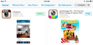 Install Instagram to the iPad