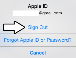Sign out of Game Center iOS 7