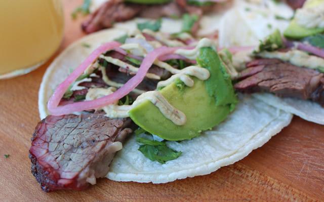 smoked brisket tacos