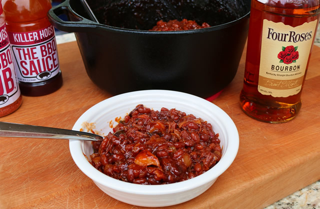 Apple Bourbon BBQ Beans