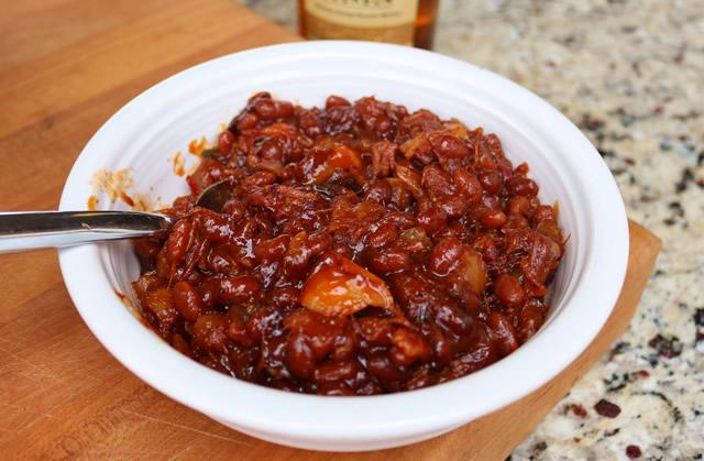 Apple Bourbon BBQ Beans