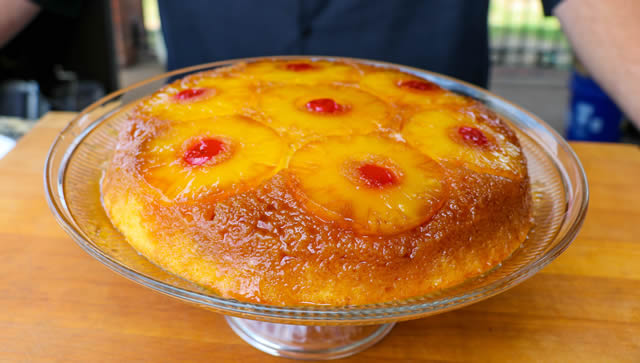 Grilled Pineapple Upside Down Cake Recipe