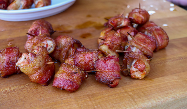 Bacon Candy Chicken Bites