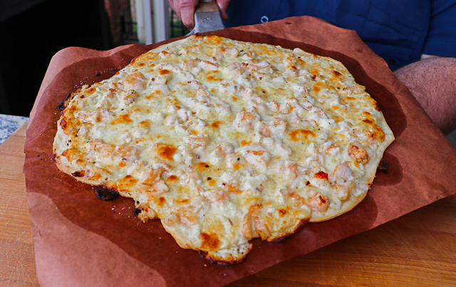 Grilled Seafood Pizza
