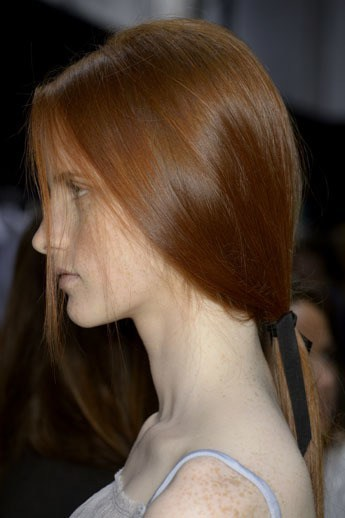 Redheads Recreate the Perfect Low Ponytail from Paris Fashion Week  How to be a Redhead
