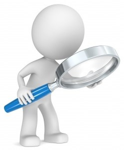 Magnifying glass dude Johan2011 123 RF Stock Photos