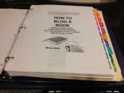 book in a binder