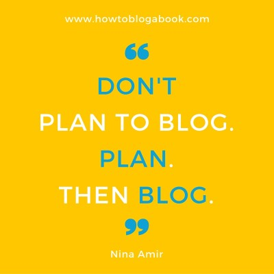 create a blog plan for your blogged book