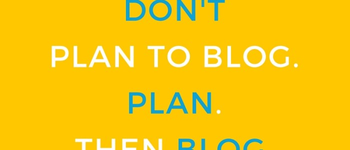 5 Steps to a Blogged-Book Plan