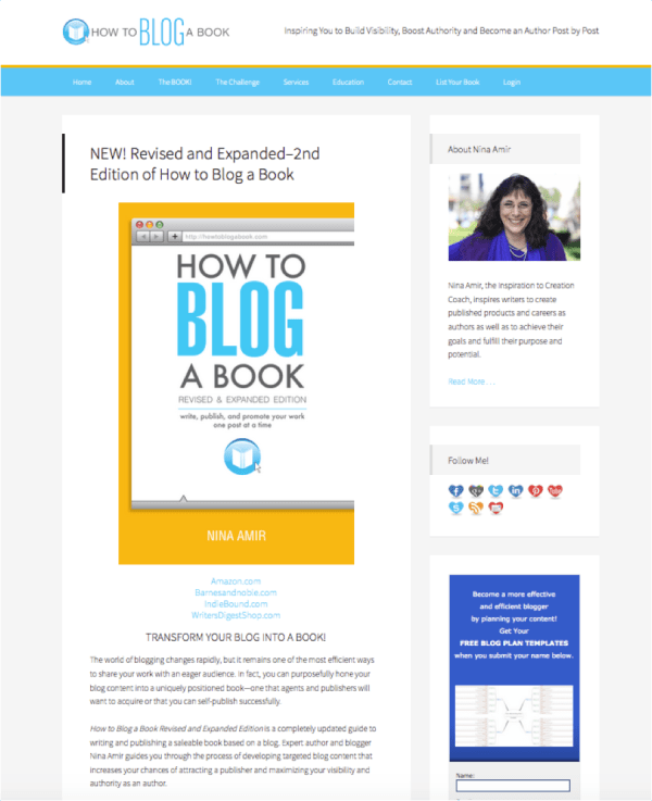 prmoote your book on your blog