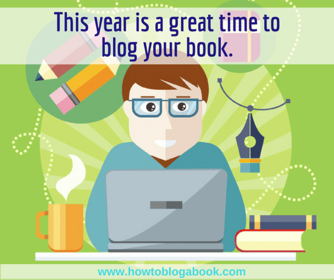 great year to blog a book
