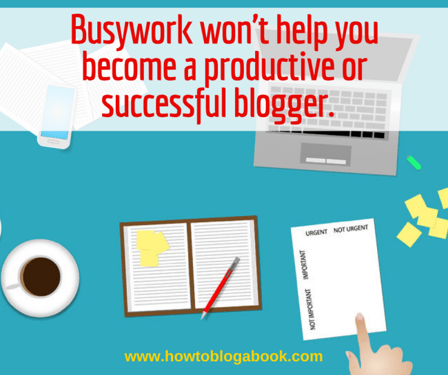 Blogging busywork