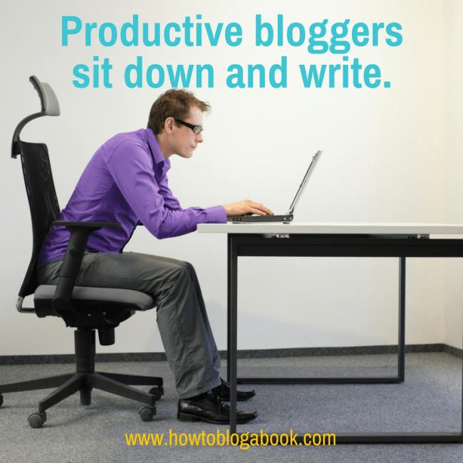 blogging productivity