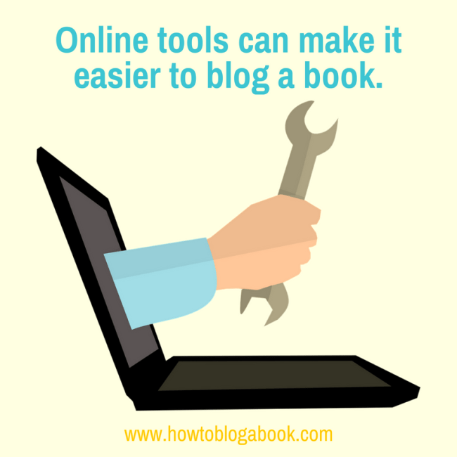tools for blogging a book