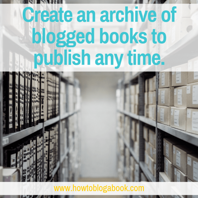archive of blogged books
