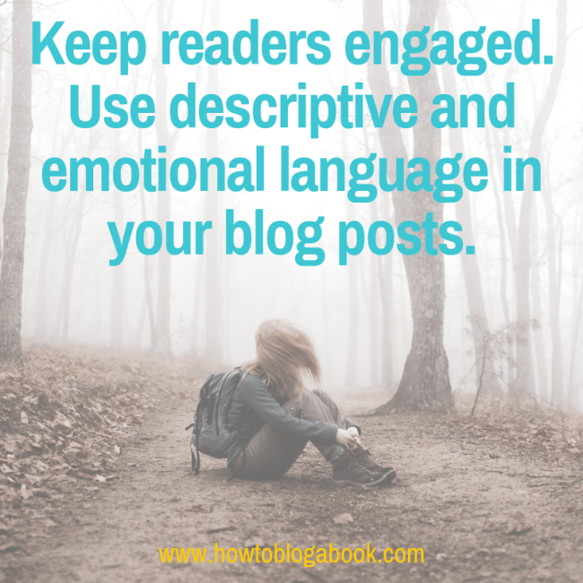 reader engagement with discriptive and emotional language