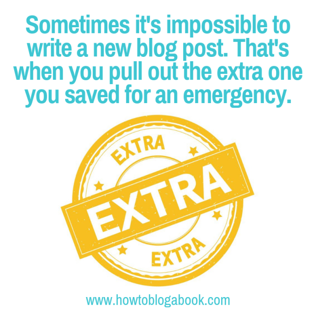 Extra post for blogging emergencies
