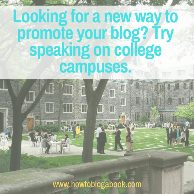 bloggers promote with campus speaking gigs