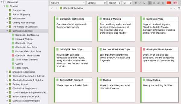 blogging a book using scrivener