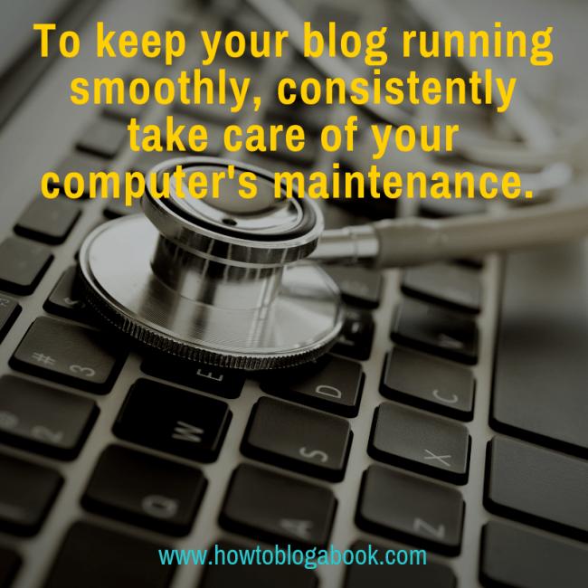 blog and computer maintenance