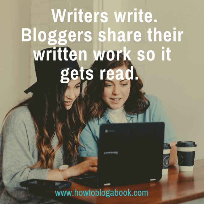 writers share written work as bloggers