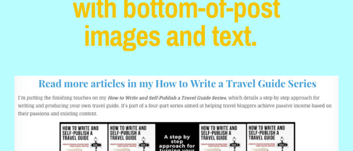 Use Bottom-of-Post Images and Text to Promote Your Blogged Book