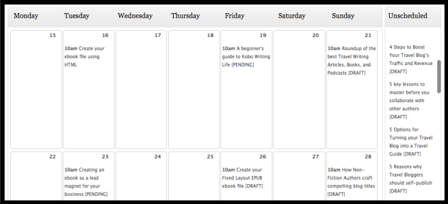using an editorial calendar for a blog