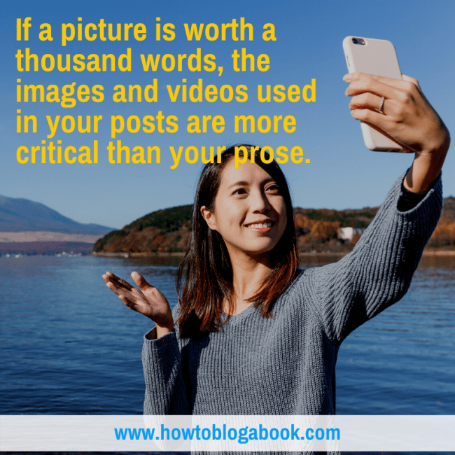 how to use photos and videos in blog posts