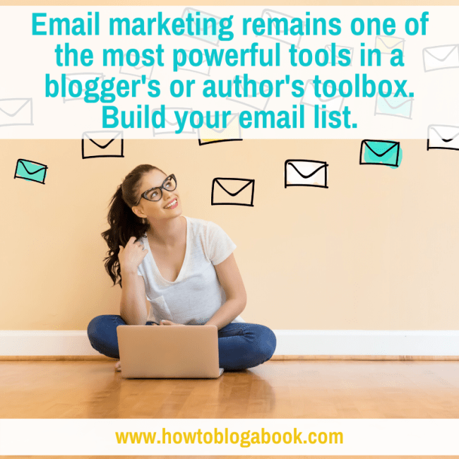 email marketing for bloggers and authors