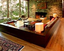Natural Stone Wall Living Room Design