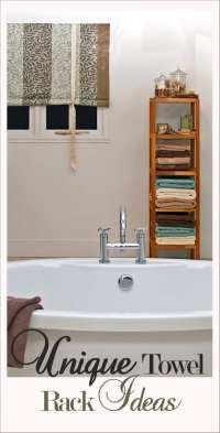 Unique Towel Rack Ideas- LOVE these:) - How To Build It